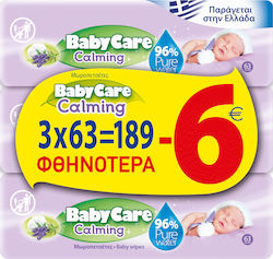 BabyCare Calming Pure Water 3x63τμχ