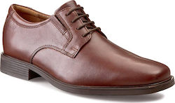 Clarks Tilden Plain Dark Tan Leather