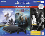 Sony PlayStation 4 Slim Black 1TB & Horizon Zero Dawn :Complete Edition (Hits) & God of War (Hits) & The Last of Us: Remastered (Hits)