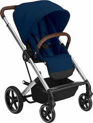 Cybex Balios S Lux Silver Frame Seat Navy Blue Gold Edition
