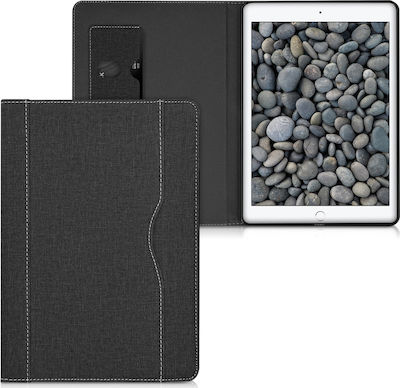 "KW Premium Canvas Cover Pen Holder Flip Cover Μαύρο (iPad 2017/2018 9.7"")"