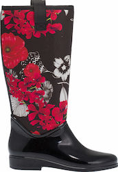 DESIGUAL RAINY BOOTS BN&RED