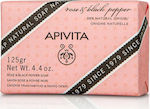 Apivita Rose & Black Pepper Natural Soap 125gr