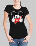 Mickey Mouse Swag w t-shirt - BLACK