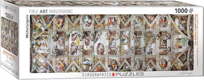 The Sistine Chapel Ceiling Panorama by Michelangelo 2D 1000pcs