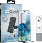 Eiger 3D Glass Case Friendly Tempered Glass Clear/Black (Galaxy S20 Ultra)