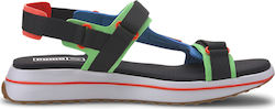 Puma Rider Game On Unisex Sandals 371964-01 Palace Blue-Puma Black-Fluo Green-Gum