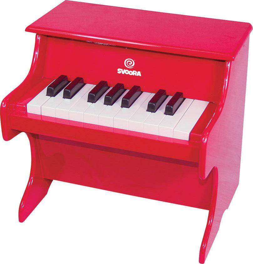 Svoora Πιάνο Ξύλινο Παιδικό Κόκκινο