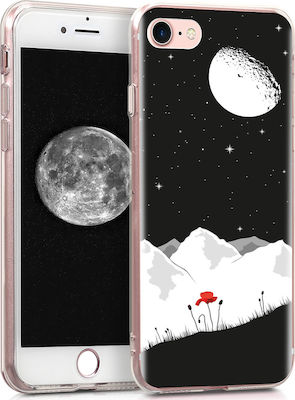 KW Starry Sky Poppy Back Cover Σιλικόνης Black / White / Red (iPhone SE 2020/8/7)