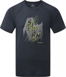 Ronhill Stride Graphic Short Sleeve Mens Running Top - Grey