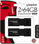 Kingston 2x DataTraveler 100 G3 64GB USB 3.0