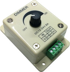 GloboStar Εξωτερικό Dimmer Knob 12-24 Volt 8 Ampere 68100 | LED Controllers & Dimmers