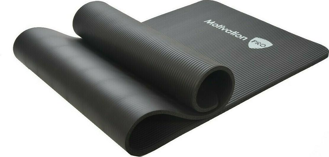 Motivationpro: Στρώμα Γυμναστικής Πάχους 10mm - Διαστάσεις 183 X 61cm - (μαύρο) Yoga Mat