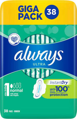 Always Ultra Instant Dry Normal 38τμχ