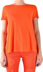 Dondup Women T-shirt WH6-BC35984-PT8507-CORALLO (coral)