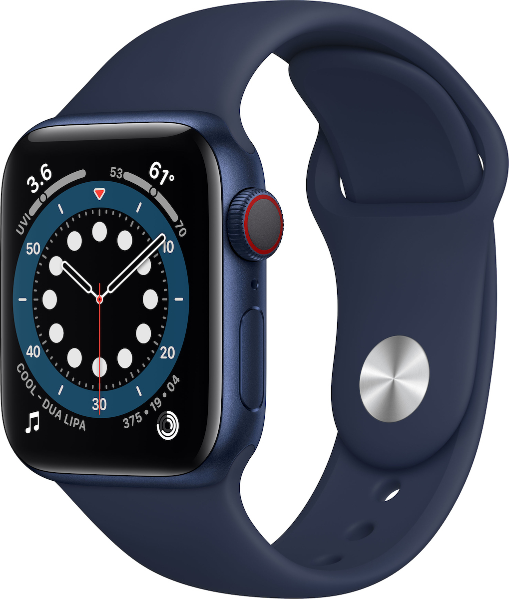 Apple Watch Series 6 Aluminium Cellular 40mm (Blue) (M06Q3WB/A) - Πληρωμή και σε έως 36 Δόσεις!!!