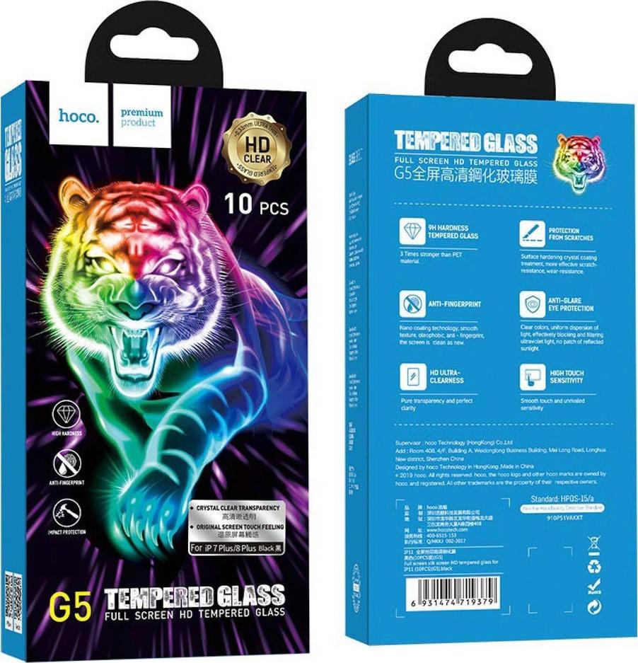 Hoco 10in1 Multipack Full Face Tempered Glass (iPhone 8 Plus / 7 Plus)